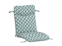 Briscoes NZ Outdoor Creations Universal Chair Cushion Blue Pattern