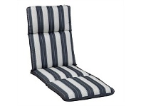 Briscoes NZ Outdoor Creations Lounge Cushion Blue Stripe