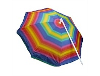Briscoes NZ Rocky Mountain Beach Umbrella Rainbow 180cm