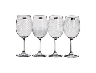 Briscoes NZ Leona Etched Wine White 340ML Set Of 4