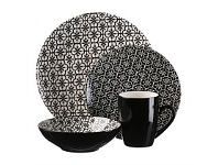 Briscoes NZ Thompson Mosaic Black Dinnerset 16 Piece