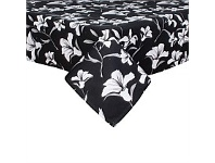 Briscoes NZ Just Home Lily Black Tablecloth 130x180cm