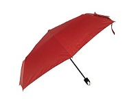Briscoes NZ Umbrella Manual Open With Caribena Handle Red