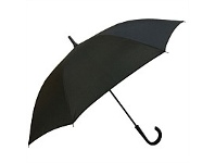 Briscoes NZ Umbrella Auto Open Shaft Handle Coloured Ribs Black