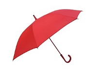 Briscoes NZ Umbrella Auto Open Shaft Handle Coloured Ribs Red
