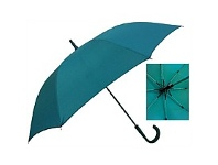 Briscoes NZ Umbrella Auto Open Shaft Handle Coloured Ribs Teal