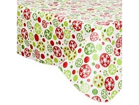 Briscoes NZ Just Home Christmas Flannelback Tablecloth 132x228cm