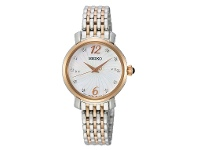 Bevilles Seiko Women's Mother of Pearl Crystal Watch