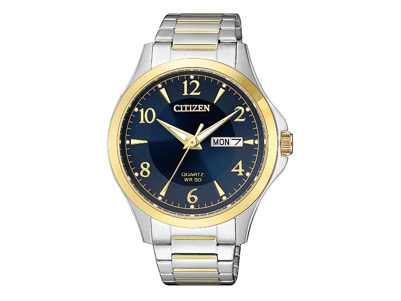 Citizen Two-Tone Watch with Midnight Blue Dial BF2005-54L