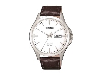 Bevilles Citizen Mens Stainless Steel Quartz Day/Date Watch Model BF2001-12A