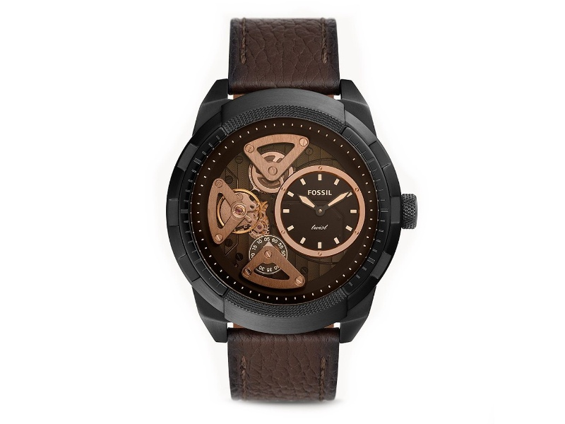 Fossil Bronson Automatic Black Men's Watch ME1172