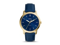 Bevilles Fossil The Minimalist Blue and Gold Men's Watch FS5789