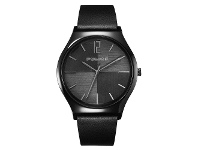 Bevilles Police Orkneys Black Leather Watch PL.15918JSB/02