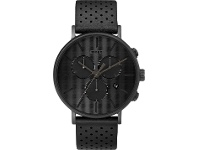 Bevilles Timex Fairfield Supernova 41mm Black Dial With Black Leather Strap