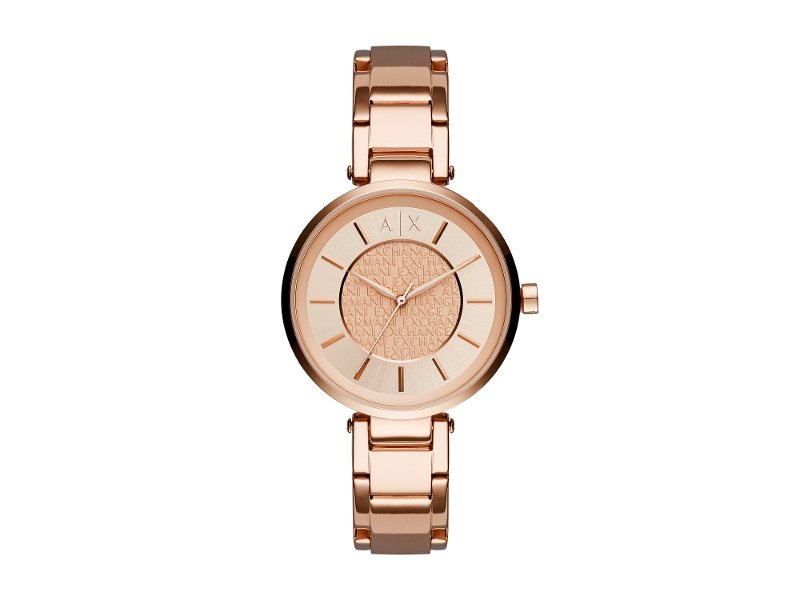 ARMANI LADIES ROSE GOLD ROSE FACE
