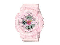 Bevilles Casio Baby-G Baby Pink Case Silicone Watch BA-110PI-4ADR