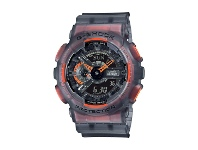 Bevilles Casio G Shock Black and Orange Watch GA110LS-1A