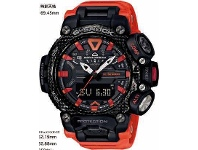 Bevilles Casio G-Shock Gravitymaster Black and Orange Watch GR-B200-1A9DR