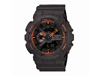 Bevilles Casio G-Shock Duo Neon Black and Orange Watch GA110TS-1A4