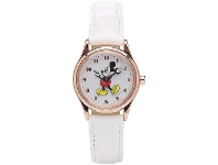 Bevilles Disney Original Mickey Mouse White Leather Watch