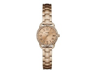 Bevilles Guess Fifth Avenue Crystal Rose Gold Watch W0837L3