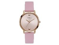 Bevilles GUESS NOVA ROSE GOLD CAE FACE PINK SILICONE STRAP