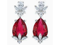 Bevilles Swarovski Lousion Red Drop Earrings