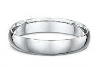 Bevilles Dora 4mm Dome Wedding Band in Sterling Silver Size S