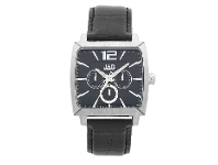 Bevilles JAG Gents Square Black Multi Dial Watch