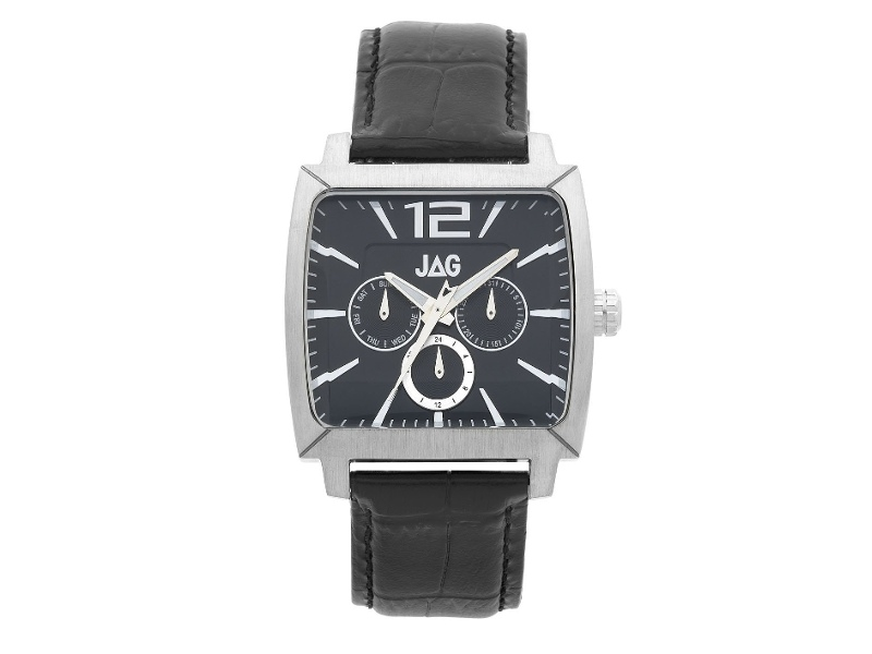 JAG Gents Square Black Multi Dial Watch