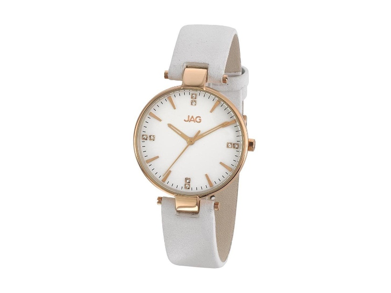 JAG Piper White Leather Watch J1946