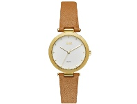 Bevilles Jag Isla White/Gold Womens Leather Watch J2257