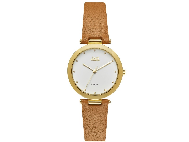 Jag Isla White/Gold Womens Leather Watch J2257