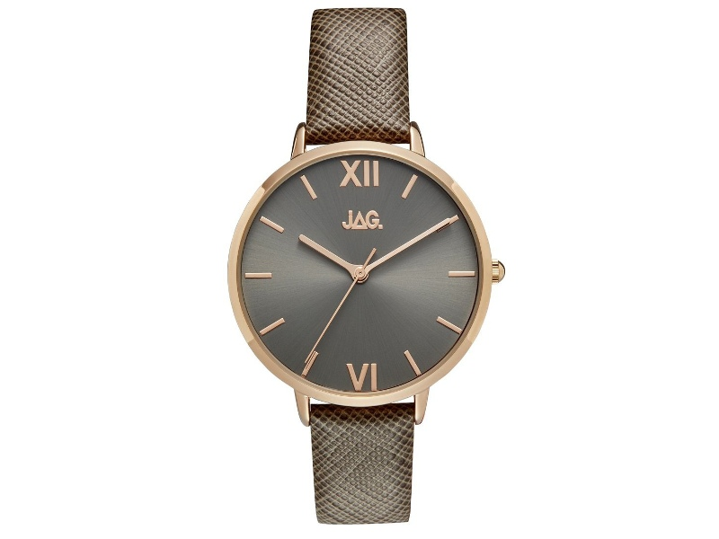 Jag Sophie Dark Grey/Taupe Rose Gold Womens Watch J2260