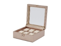 Bevilles Wolf Palermo 6 Pc Watch Box Rose Gold