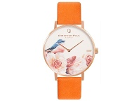 Bevilles Christian Paul Garry Fleming Orange Leather Watch GFL04