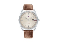 Bevilles Tommy Hilfiger Theo Cream and Brown Watch 1710430