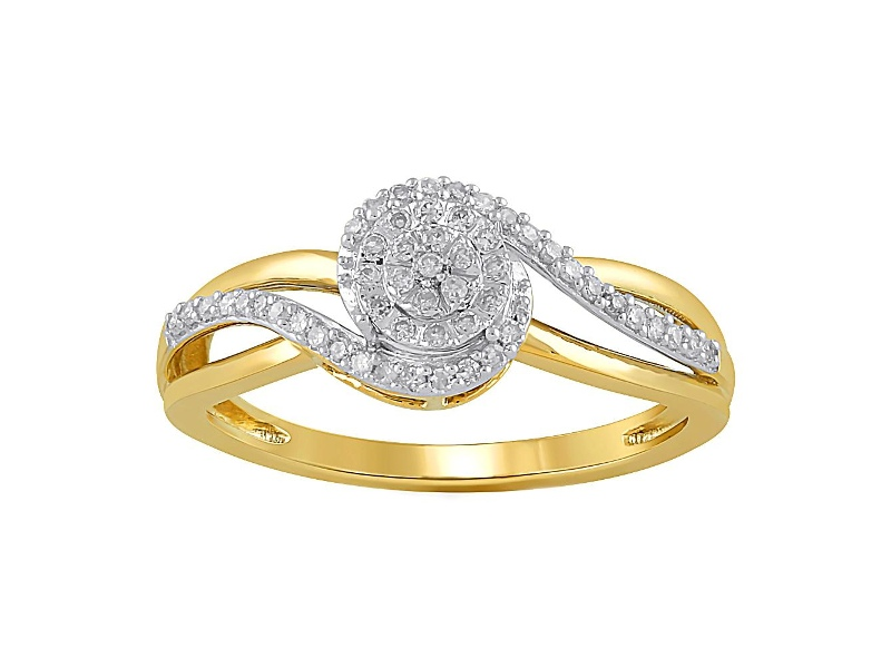 Brilliant Ring with 0.15ct of Diamonds in 9ct Yellow Gold