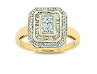 Bevilles 9ct Yellow Gold 0.50ct Diamond RIng
