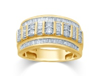 Bevilles 9ct Yellow Gold 1ct Diamond Ring - Q