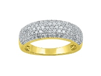 Bevilles 18ct Yellow Gold 1ct Diamonds Pave Dress Ring