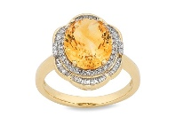 Bevilles 9ct Yellow Gold 50pts of Diamonds Ring