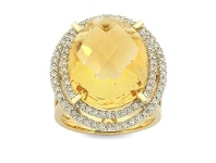Bevilles 14ct Yellow Gold Diamond Ring