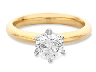Bevilles Facets of Love Tia Brilliant Love 18ct Yellow Gold 1.00ct Diamond Ring