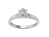 Bevilles Brilliant Star Ring with 0.45ct of Diamonds in 18ct White Gold