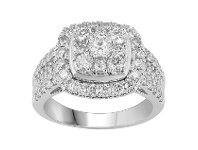Bevilles Brilliant Square Look Ring with 1.75ct of Diamonds in 18ct White Gold