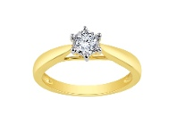 Bevilles 0.20ct Brilliant Solitaire Diamond Ring in 9ct Yellow Gold