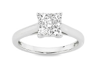 Bevilles 14ct White Gold .50ct Diamond Ring