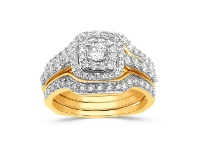 Bevilles Perfect Harmony Ring with 2.00ct of Diamonds in 9ct Yellow Gold