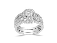 Bevilles 9ct White Gold 0.75ct Diamond Perfect Harmony Ring - Q